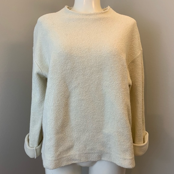 OAK + FORT Cream Coloured Cotton Sweater